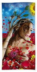 Dafne   Hit In The Physical But Hurt The Soul Bath Towel by Alessandro Della Pietra