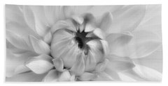 Dahlia In Black And White Hand Towel