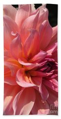 Bath Towel featuring the photograph Dahlia Named Fire Magic by J McCombie