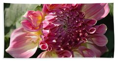 Dahlia V Hand Towel by Christiane Hellner-OBrien