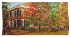 Dahlonega's Gold Museum In Autumn Hand Towel