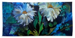 Daisies At Midnight Hand Towel