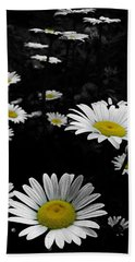 Daisies Hand Towel by GJ Blackman