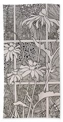 Daisies In A Window Hand Towel