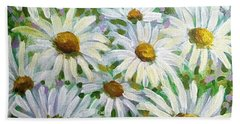 Daisies Bath Towel by Jeanette Jarmon