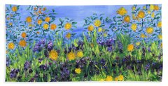 Daisy Days Bath Towel by Regina Valluzzi