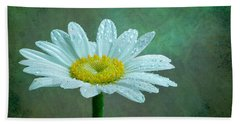 Daisy In The Rain Hand Towel