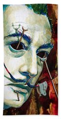Bath Towel featuring the painting Dali 2 by Laur Iduc