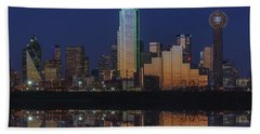 Dallas Aglow Hand Towel by Rick Berk