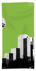 Dallas Skyline Reunion Tower - Olive Hand Towel