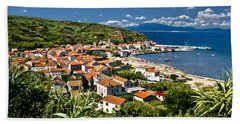 Dalmatian Island Of Susak Village And Harbor Hand Towel