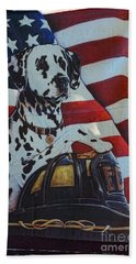 Dalmatian The Firefighters Mascot Hand Towel