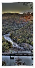 Hand Towel featuring the photograph Dam In The Forest by Jonny D