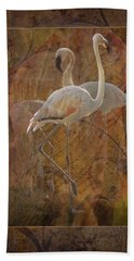 Dance Of The Flamingos Hand Towel
