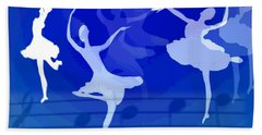Dance The Blues Away Hand Towel by Joyce Dickens