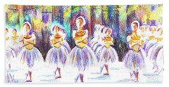 Dancers In The Forest II Hand Towel by Kip DeVore