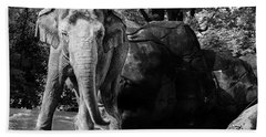 Dancing Elephant Hand Towel