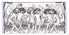 Dancing Fairies From 1896 Bath Towel by Phil Cardamone