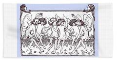 Dancing Fairies From 1896 Hand Towel