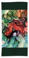 Dancing For Joy - Acrylic Painting - Original Art Hand Towel