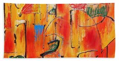 Dancing In The Heat Hand Towel by Jason Williamson