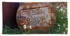 Danger Explosives Hand Towel