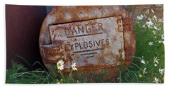 Danger Explosives Bath Towel