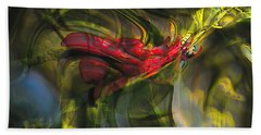 Hand Towel featuring the digital art Dangerous by Richard Thomas