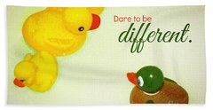 Dare To Be Different Hand Towel by Valerie Reeves