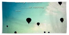 Daring Adventure Hot Air Balloons Hand Towel by Eleanor Abramson