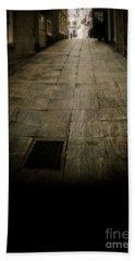 Dark Alley In Old Historic City Bath Towel
