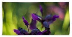 Dark Irises Bath Towel