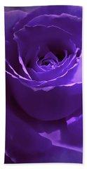 Dark Secrets Purple Rose Hand Towel by Jennie Marie Schell