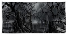 Darkness Has Crept In The Midnight Hour Hand Towel by James Christopher Hill