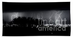 Bath Towel featuring the photograph Darkness Symphony-15x72-signed by J L Woody Wooden