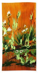Bath Towel featuring the painting Darlinettas by Holly Carmichael