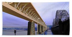 Darnitsky Bridge Bath Towel