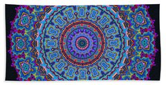 Bath Towel featuring the digital art Darren's Mandala by Joy McKenzie