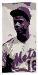 Darryl Strawberry Poster Art Bath Towel