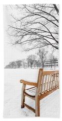 Hand Towel featuring the photograph Dartmouth Winter Wonderland by Edward Fielding