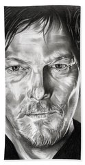 Daryl Dixon - The Walking Dead Hand Towel by Fred Larucci