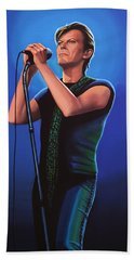 David Bowie 2 Painting Hand Towel