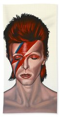 David Bowie Aladdin Sane Hand Towel by Paul Meijering