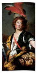 David With The Head Of Goliath, C.1636 Oil On Canvas Hand Towel