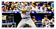 David Wright Painting Hand Towel