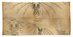 Davinci's Wings Hand Towel by James Christopher Hill
