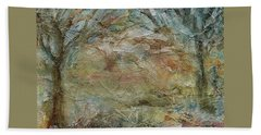Hand Towel featuring the painting Dawn 2 by Mary Wolf