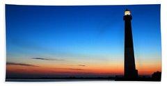 Dawn At Barnegat Light Hand Towel by James Kirkikis