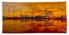 Dawn At Wildwood Pier Bath Towel by Nick Zelinsky