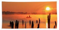 Dawn Fishing Bath Towel